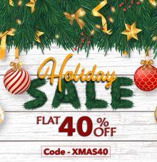 Holiday Season Sale 2019 Flat 40 Percent  Off on Invitation Cards by 123WeddingCards