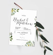 Botanical Bliss by merrieinvites