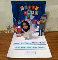 Handmade Pop Up Card for Birthday by Amour Market