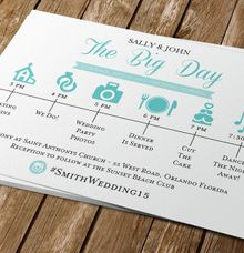 The Big Day-Wedding Timeline of Events by Blue Line Design