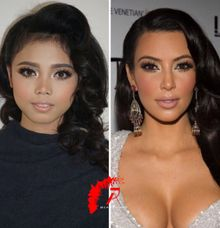 Kim kardahian makeup look a like by Jessiead