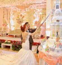happy wedding for Ricky & Karlina by Pelangi Cake