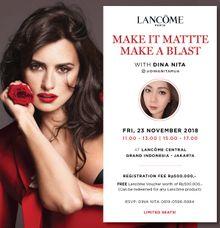 LANCOME Beauty Workshop With Dinanita Makeup by Dinanita Makeup