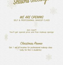 OPEN MAKEUP CLASS (CHRISTMAS PROMOTION) by Cindy Natalia