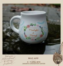 Mug Gentong Wedding Cheryl & Pradipta by Mug-App Wedding Souvenir