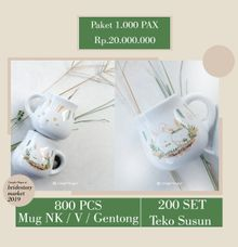 Paket 1000 Pax by Mug-App Wedding Souvenir