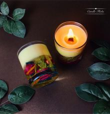 Transparant Botanical Candle | Packaging: Hard Box by Candle Flicks