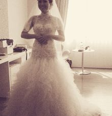 Simple Wedding Dress by costura bride and evening wear