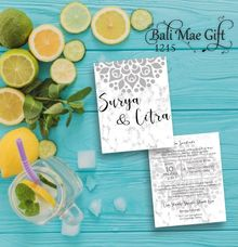 Wedding Invitations by Bali Mae Gift