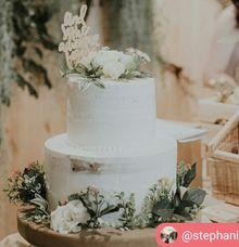 Two Tier Wedding Cake by breadseason