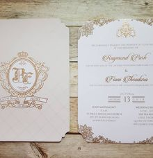 1 Board Press Invitation With Envelope by Red Card