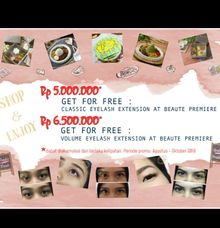 Promo Free Eyelash Extension With Beaute Premiere by Kayumanis Catering
