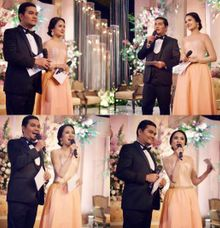 Indra Bekti MC at Tasya Kamila Wedding by SAS designs