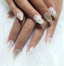 Bridal Nails by Sarjanakuku