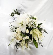 White Wedding Flower by Belfiore Florist