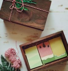 Packaging - Premium wooden box by The Rustic Soap