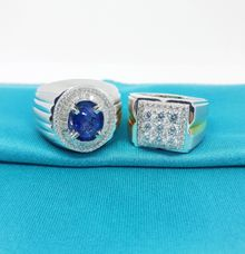 cincin laki | cincin emas putih permata berlian by Newstar Gold & Jewellery
