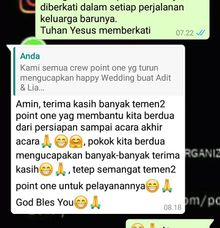 Testimoni Adit & Lia by Point One Wedding Organizer