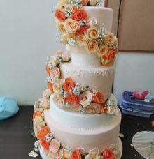 Orange Theme by Sugaria cake