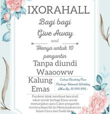 Khusus Package Intimade Wedding All In,, by IXORA HALL