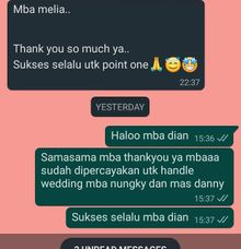 testi nungky & danny by Point One Wedding Organizer