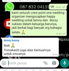 testi benny & dessy by Point One Wedding Organizer