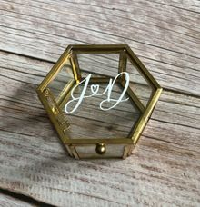 Custom Glass Ring Box by Calligraphy by Den