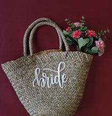 Straw Bag for souvenir by Vinas Invitation