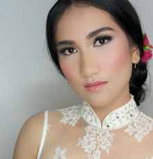 Wedding makeup and hairdo by indimakeupartist