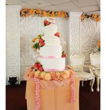 5 Tier Wedding Cake by Velvet Cake