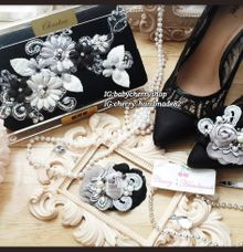 Elegant Clutch & Shoeclips Sets by Cherry's  Handmade
