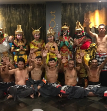 Kecak Dance 'Love story of Rama Shita' by Kamala entertainment centre