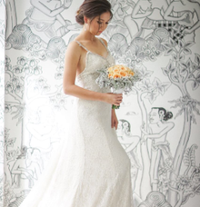 Custom gown  by Kings Bridal & Tailor