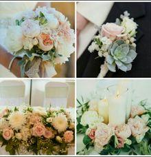 Champagne, Pink, Peach & Cream Theme by Dorcas Floral
