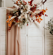 Floral backdrop installation  by Lavender Love Florist