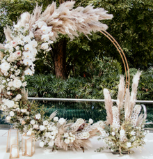 Pampas Grass Arch by Lavender Love Florist