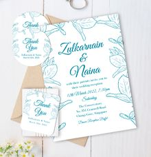 Leaf Crown Wedding Invitation by Gift Elements