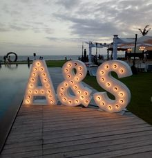 Light Up Letters by Bali Kei Hire