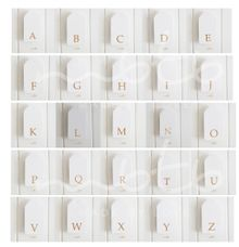 Alphabet Gift Tag by MBTB