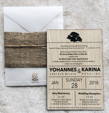 Classic Wood of Yohannes & Karina by Memoir Paperie
