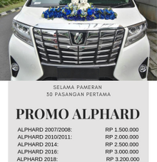 PRICELIST SELAMA PAMERAN by Michael Wedding Car
