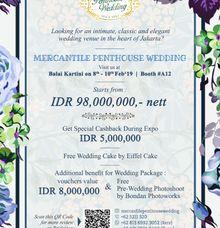 Wedding Expo at Balai Kartini 8-10 February 2019 by MERCANTILE PENTHOUSE WEDDING