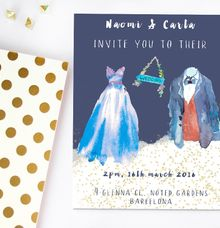 Dreamy watercolours by She.Fox Invitations