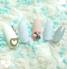 Pastel Nail With Lace Detail by Nail It Up!