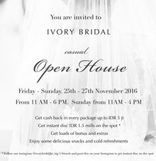 Open House by Ivory Bridal