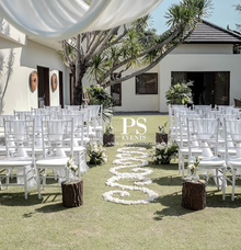 White Intimate Wedding Ceremony by Pepper Suite Events