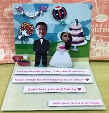 Wedding Pop Up Card by Amour Market