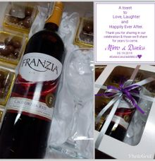 Wine, Glass & Chocolate Set by Megabites Chocolate