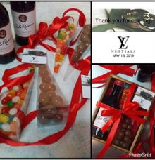 Chocolates, Mini Wines & Jelly Bean Candy Sets by Megabites Chocolate