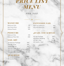 Price list by Pixie Dust Nail